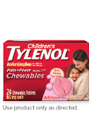 Children's TYLENOL® Chewables dose