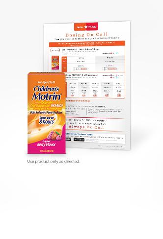 Children's MOTRIN® Dosing Chart