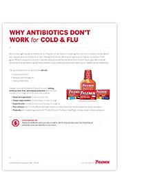 Antibiotics for cold or flu