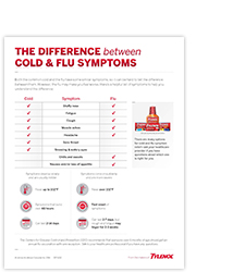 Difference between cold vs flu resources