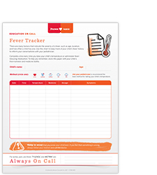 Child fever tracker