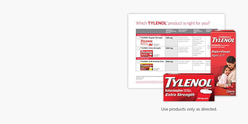 Sign up & order TYLENOL® product samples